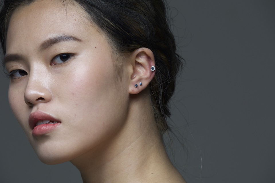 woman with ear Piercing